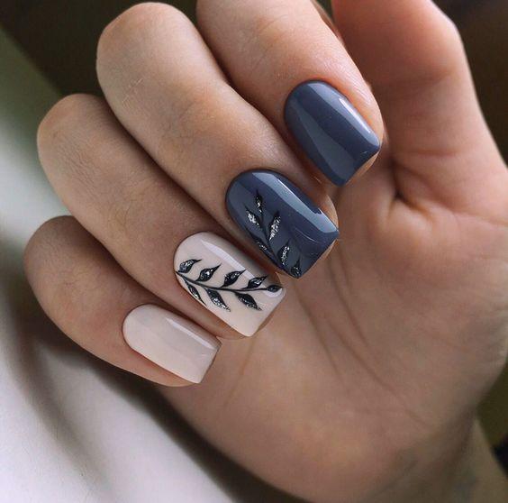 Eleganckie kwadratowe paznokcie